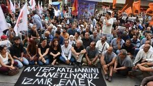 İzmir'de, Gaziantep'teki saldırıya tepki