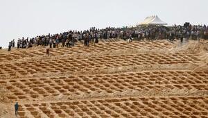 Çok sayıda kazılan mezara Gaziantep Büyükşehir Belediyesi'nden açıklama