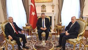 Başbakanlık konutundaki liderler zirvesi başladı