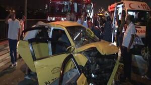 15 Temmuz Şehitler Köprüsü'nde akılalmaz kaza