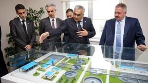 Başkan Nursaçan, atık su arıtma tesisi faaliyetlerini inceledi