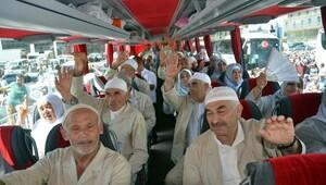 Tokat'ta 187 hacı adayı kutsal topraklara uğurlandı