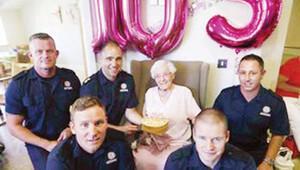 105'nci yaş sürprizi