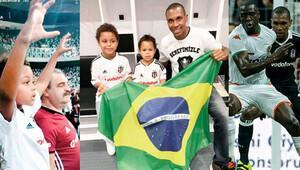 Beşiktaşlı Marcelo'nun oğlu tribünden düştü