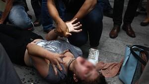 Caddede kriz geçiren genç kadın yürekleri sızlattı
