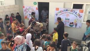 İHH'dan Suriye'de 10 bin çocuğa dondurma