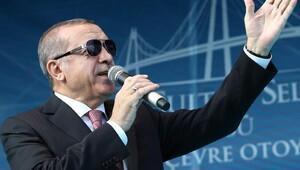 Cumhurbaşkanı Erdoğan ,Yavuz Sultan Selim Köprüsü'nün açılışında konuşuyor / ek fotoğraflar