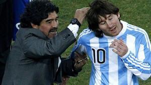 Maradona'dan Messi'ye ağır sözler