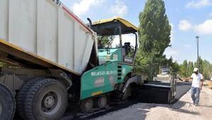 Melikgazi 230 ton asfalt çalışma yaptı