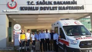 Kumlu'ya yeni ambulans