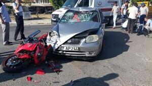 Serik'te 2 polis kazada yaralandı
