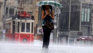 İstanbul'da bölgesel sağanak yağış