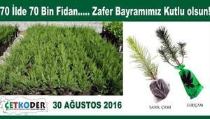 30 Ağustos'ta, 70 ilde 70 bin fidan toprakla buluşuyor