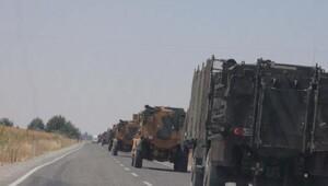 Diyarbakır'dan sevk edilen askeri araçlar Kilis'e ulaştı