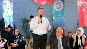Başkan Palancıoğlu, Akçakaya'da tesis açtı, personelle bayramlaştı