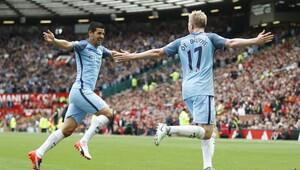 Manchester United 1-2 Manchester City / MAÇ SONUCU