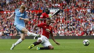 Manchester United-Manchester City maçının en güzel kareleri