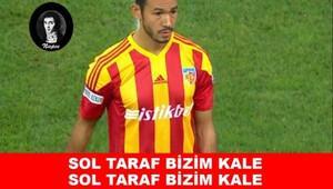 Kayserispor-Galatasaray maçı caps'leri