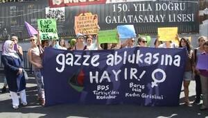 Galatasaray Meydanı'nda Gazze eylemi