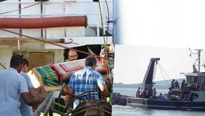 Tabutu denizin üzerinden kabristana götürülerek son arzusu yerine getirildi
