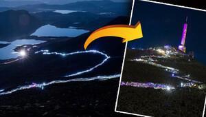 1883 metrelik zirveye büyüleyici Fenerli Gece Yürüyüşü