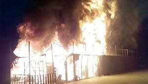 Sığınmacı kampında korkutan yangın