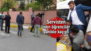 Okul önünde servisçi hesaplaşması! Kurşun yağdırdılar