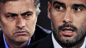 Guardiola ve Mourinho birbirlerine rakip oldu!