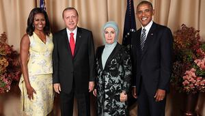 Obama ve Erdoğan çiftinden aile fotoğrafı