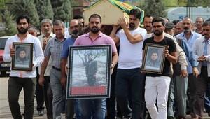 Milletvekilleri çatışmada öldürülen teröristin cenazesinde