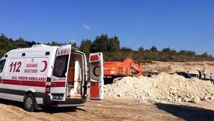 İstanbul - İzmir Otoyolu inşaatında bir işçi hayatını kaybetti