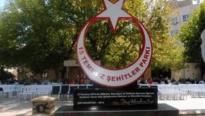 Çan'da 15 Temmuz Şehitler Parkı açıldı