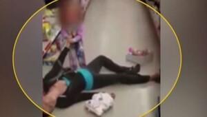Uyuşturucu bağımlısı annesi kendinden geçen küçük kız böyle çırpındı!