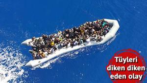 Son dakika: Lastik botta ölüme terk edilen 132 göçmen Türk gemisi tarafından böyle kurtarıldı