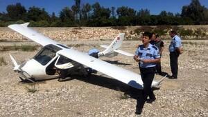 2 kişilik uçak zorunlu iniş yaptı