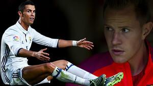 Ter Stegen Ronaldo'yu solladı