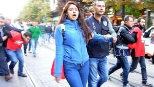 Eskişehir'de Birleşik Haziran Hareketi üyelerine müdahale