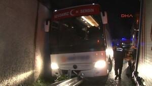İstanbul'da yolcu otobüsü kaza yaptı: 1 ölü