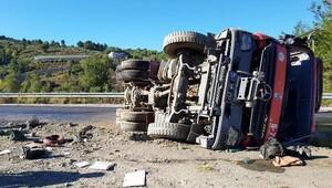 Gazipaşa'da arazöz devrildi: 1 yaralı