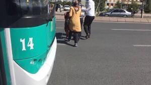 Kayseri'de örnek halk otobüsü şoförü