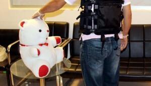 Oyuncak ayıda 2 kilo esrara tutuklama