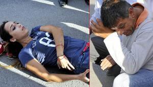 Antalya'da kızı kaza geçiren babanın gözyaşları...