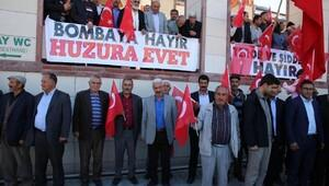 Erciş'teki STK'lardan 'Bombaya hayır, huzura evet' açıklaması
