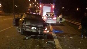 5 kişinin yaralandığı kazada otomobilden 1.5 kilo esrar çıktı