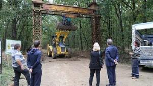 İğneada Longoz ormanları milli parkına giriş takı yapıldı
