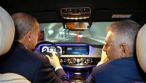 Avrasya Tüneli'nde ilk geçiş Cumhurbaşkanı Erdoğandan