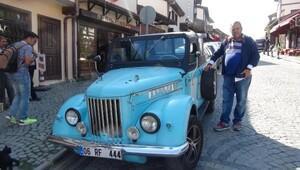 Klasik antika aracına gelin arabası talebi