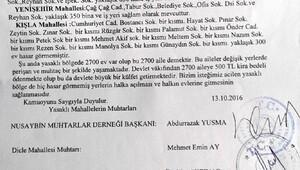 Nusaybinde 6 muhtardan, Cumhurbaşkanı ve Başbakana sağlam ev dilekçesi