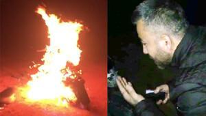 Motosikletine önce uzun uzun kızdı sonra yaktı