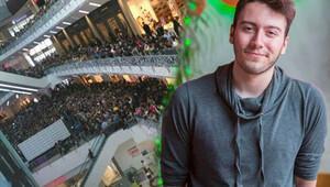 YouTube yıldızı Enes Batur AVMde izdihama sebep oldu